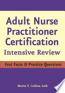 Adult Nurse Practitioner Certification