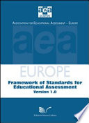 European Framework of Standards for Educational Assessment 1 0