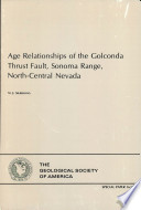 Age Relationships of the Golconda Thrust Fault  Sonoma Range  North central Nevada