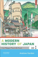 A Modern History Of Japan book