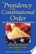 Presidency in the Constitutional Order