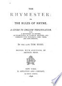 The Rhymester  Or The Rules of Rhyme