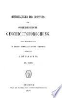 Mittheilungen des Instituts für Oesterreichische Geschichtsforschung