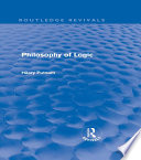 Philosophy of Logic  Routledge Revivals