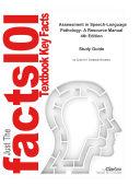 Assessment in Speech Language Pathology  A Resource Manual