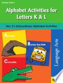 Alphabet Activities for Letters K   L