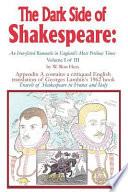 The Dark Side of Shakespeare
