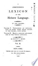 A compendious lexicon of the Hebrew language