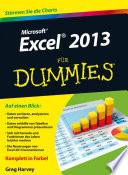 Excel 2013 f  r Dummies