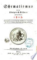 Schematismus für das Königreich Böhmen auf das Jahr 1823