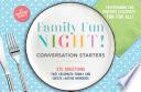 Family Fun Night Conversation Starters Placemats Book PDF