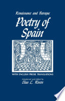 Renaissance and Baroque Poetry of Spain