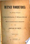 Duitsch Woordenboek In Twee Deelen