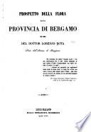 Prospetto della flora della provincia di Bergamo