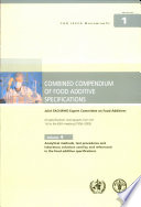 Combined Compendium of Food Additive Specifications  Analytical methods  test procedures and laboratory solutions used by and referenced in food additive specifications