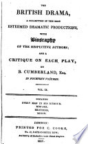 Comedy of Every Man in His Humour Altered from Ben Jonson with the Biography of the Author and a Critique by Richard Cumberland