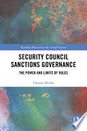 Security Council Sanctions Governance