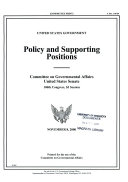 United States government policy and supporting positions