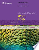 New Perspectives Microsoft Office 365 Word 2016 Comprehensive