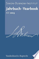Jahrbuch des Simon-Dubnow-Instituts / Simon Dubnow Institute Yearbook XII/2013