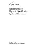 Fundamentals of algebraic specification