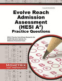 Evolve Reach Admission Assessment Hesi A2 Practice Questions