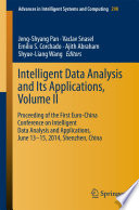 Intelligent Data analysis and its Applications  Volume II