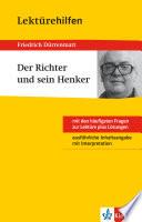 Klett Lekt  rehilfen   Friedrich D  rrenmatt  Der Richter und sein Henker