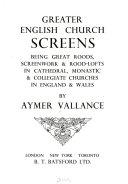 Greater English Church Screens