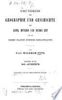 Grundriss der Geographie und Geschichte der alten  mittlern und neuern Zeit