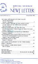 Social Science News Letter