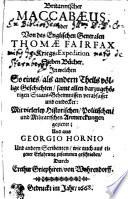 Britannischer Maccabaeus, oder Von des Englischen Generalen Thomae Fairfax Kriegs-Expedition Sieben Bücher