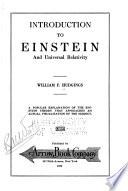 Introduction to Einstein and Universal Relativity