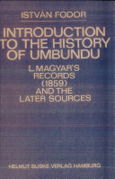 Introduction to the History of Umbundu