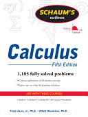 Schaum s Outline of Calculus  5ed