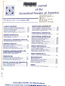 The Journal Of The Acoustical Society Of America book