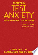 Addressing Test Anxiety in a High Stakes Environment
