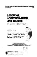 Language, communication, and culture