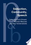 Seduction  Community  Speech