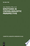 Emotions In Crosslinguistic Perspective