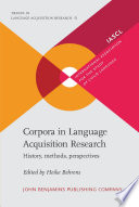 Corpora in Language Acquisition Research