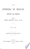 The Journal of Botany, British and Foreign ...