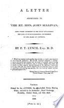 A letter addressed to the Rt  Hon  John Sullivan