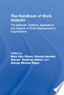 The Handbook of Work Analysis