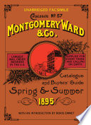 Montgomery Ward Catalogue of 1895 Pillow Case Lace Stereoscopes Books Of Gospel Hymns And