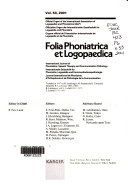 Folia Phoniatrica Et Logopaedica