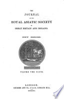Journal Of The Royal Asiatic Society Of Great Britain And Ireland