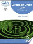 Q A European Union Law 2009 2010