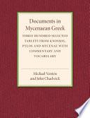 Documents in Mycenaean Greek