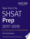 New York City SHSAT Prep 2017 2018